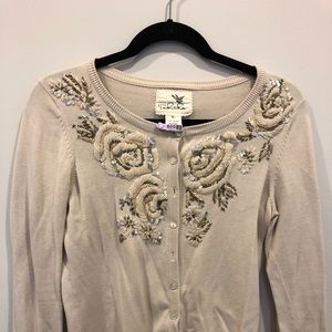 Anthropologie Tabitha Sz M embroidered & Beaded